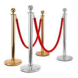 2x Business Crowd Control Stanchion mit 1,5 m Warteschlange Control Barrier Beiträge Sicherheit Seil