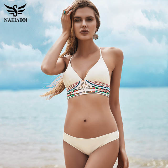 13f4b6c6a8 placeholder NAKIAEOI 2019 Sexy Bikini Set Swimwear Women Push Up Swimsuit  Bandage Bikini Brazilian Summer Beach Bathing