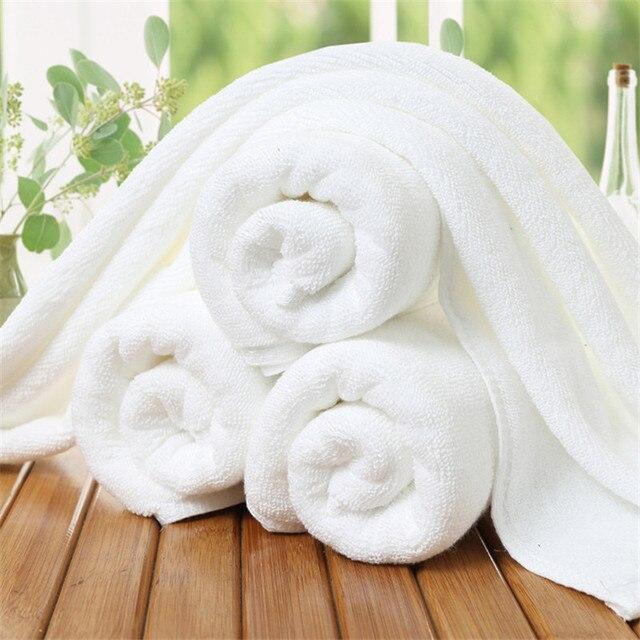 5 Pz/set White Hotel Asciugamani 100% Cotone Asciugamano Viso Assorbente per adu