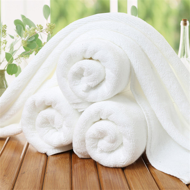 5PCS/Set White Hotel Towels 100% Cotton Absorbent Face Towel for Adults Spa Gym Beach Bath Towels Kids Hand Towels Travel Towel