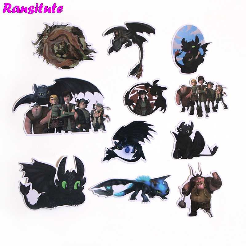 R200 48pcs/set How to Train Your Dragon Anime Cartoon Sticker DIY Luggage Laptop Skateboard Car Motorcycle Bike Sticker