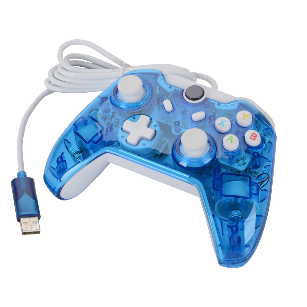 Wired Xbox One Controller Light Flashing: Transparent Black/Blue high quality USB wired game controller For rh:aliexpress.com,Design