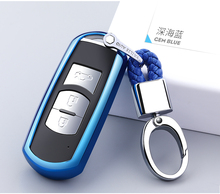 Car Smart Key Shell Cover Bag Case For Mazda 3 6 CX5 CX7 323 626 Familia Accessories Styling TPU Protect Wallet