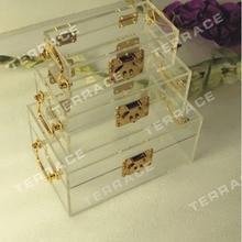 3 шт./компл.) Соединенные Штаты акриловая шкатулка для драгоценностей, Lucite ящик для хранения вещей чехол