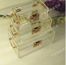 (3 ШТ./КОМПЛ.) Бесплатная Доставка Сша Акриловая Коробка Ювелирных Изделий, Lucite блок хранения случае