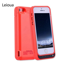 Leioua 4200mAh Rechargeable Ultra Slim Battery Case For Iphone 5 5c 5s Se Power Bank Case Pack Charging Case Cover Charging Case