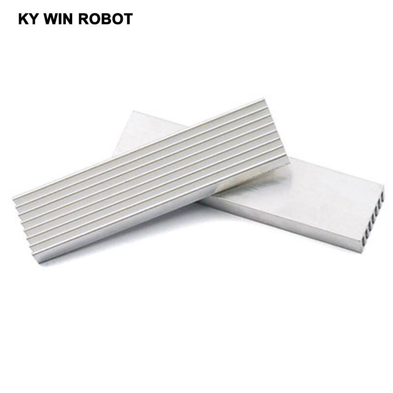100*25*10mm DIY Cooler Aluminum Heatsink Heat Sink Chip For IC LED Power Transistor