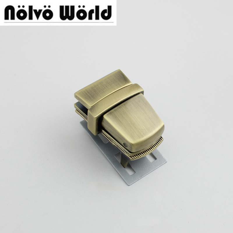 20sets 39*25mm High Qulity Lock Woman Bag Making Gunmetal Pressed Lock Briefcase Lock For Genuine Leather Hardware 10sets