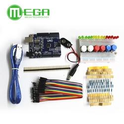 1 conjunto novo kit de partida uno r3 mini breadboard led jumper fio botão para arduino compatile