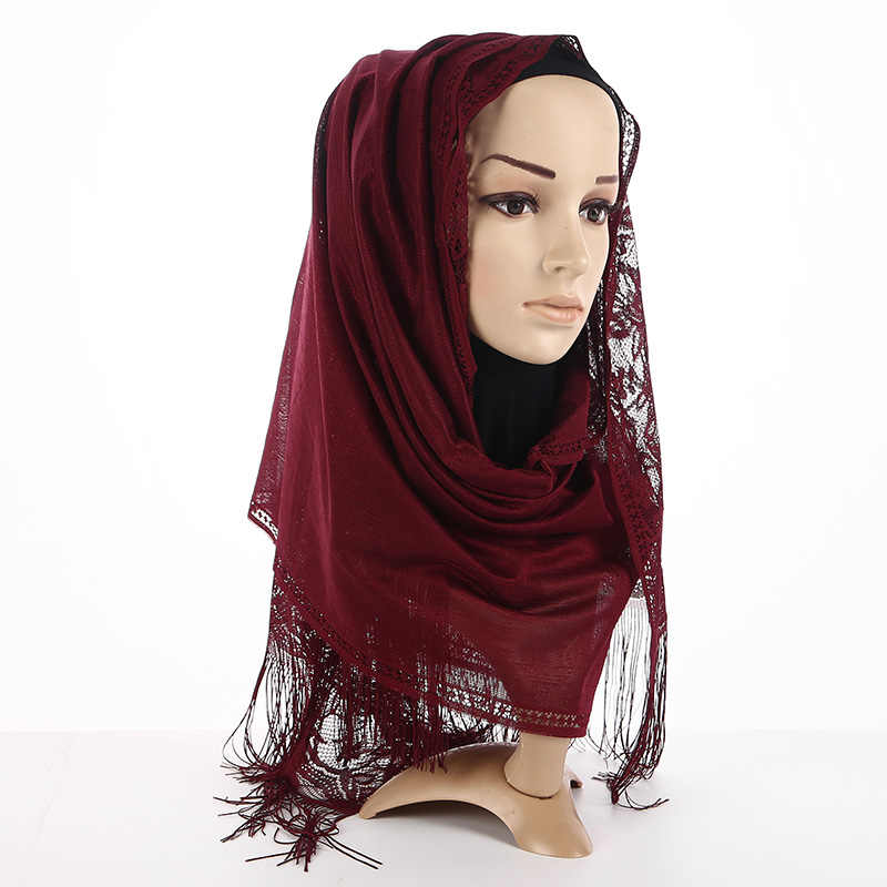 5c5d1a3b222d0 ... Badinka 2018 New Black White Premium Jersey Plain Cotton Hijab Scarf  Women Shimmer Muslim Head Hijab ...