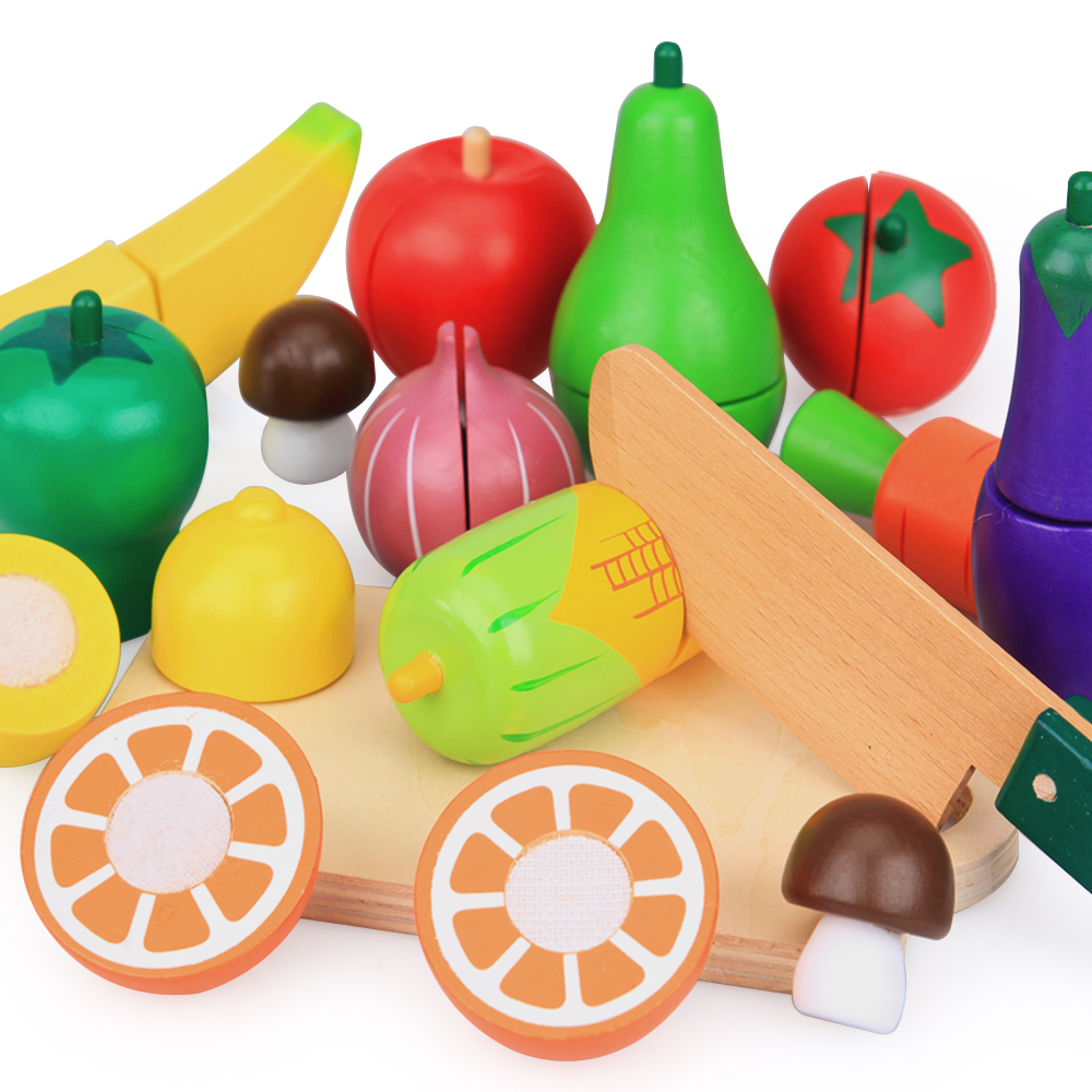 Awesome Us 25 2 55 Off 15Pcs Set Wooden Kitchen Toys Cutting Fruit Vegetable Play Food Kids Wooden Fruit Toy Fruit And Vegetables Food Toy In Kitchen Toys Home Interior And Landscaping Ymoonbapapsignezvosmurscom