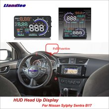 Liandlee Car Head Up Display HUD For Nissan Sylphy Sentra B17 2012-2018 Dynamic Driving Computer HD Projector Screen Detector