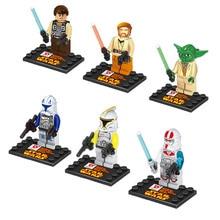 Dargo Star Wars Minifigure Yoda Clone Trooper Mini Action Figure Building Blocks Sets Bricks axi Toys For Children