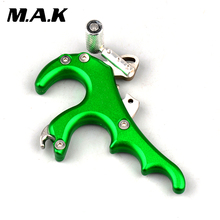 Big sale Green Color 4 Finger Archery Caliper Release in Stainless Steel Bow Accessory for Compound Bow Archery