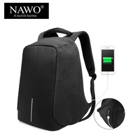 NAWO Multifunctional School Bags For Teenagers USB Charging 15inch Laptop Backpack Unisex Large Capacity Travel Bags