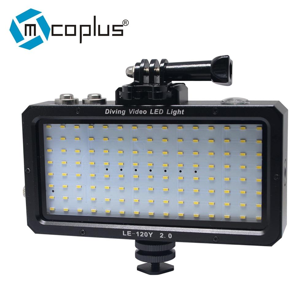 Mcoplus 120pcs Waterproof Dimmable LED Video Light on Camera for Canon Nikon Sony fujifilm DSLR Gopro