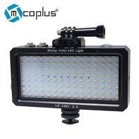 Mcoplus 120 шт. Водонепроницаемый видео светодиодный свет 25 м/82ft подводный лампа для GoPro Hero 6 5 4 3 + 2 1 SJCAM SJ4000 SJ5000 SJ6000