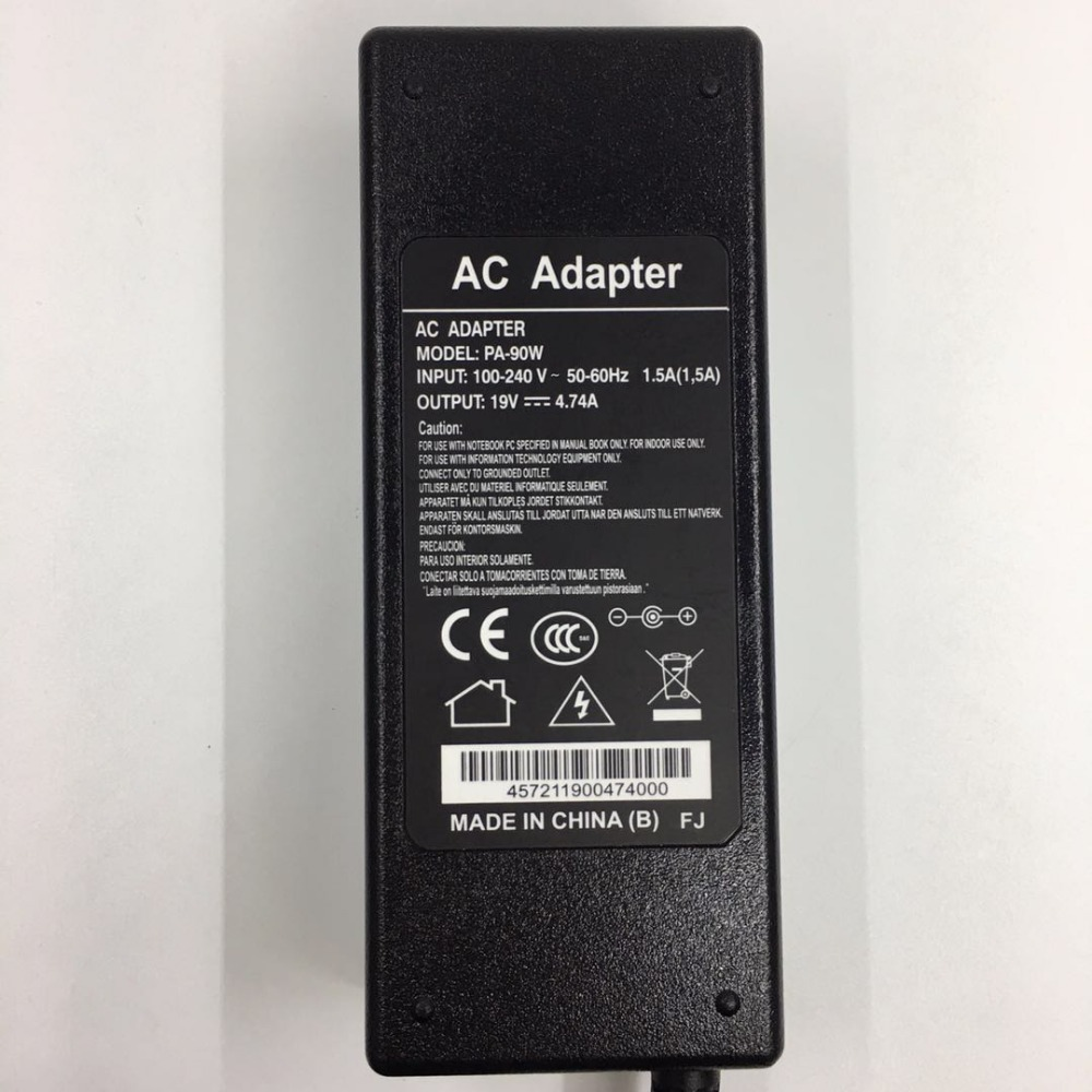 19V 4 74A 5 5 3 0mm 90W Laptop AC Power Adapter Apply to Samsung NotebooK R428 R410 R65 R520 R522 R530 R580 R560 R518 R410 R429 in Laptop Adapter from Computer Office