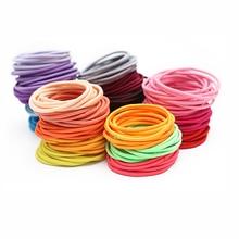 20PCS/Lot 4.5cm Solid Elastic Girls Colorful Mini Rubber Band Hair Rope Lovely Children Ponytail Holder for Kids Girl