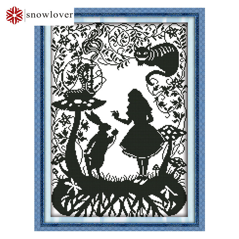Needlework DMC DIY Cross stitch kits sets for Embroidery The Fairy tale world picture11ct printed Cross