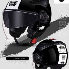 HOT SELL Motorcycle double lens Helmet open moto helmets ECE