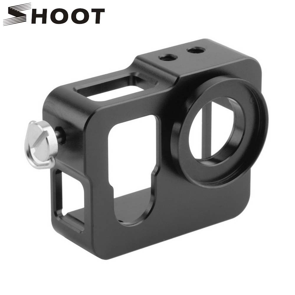SHOOT Aluminum Alloy Protective Case With UV Lens for GoPro Hero 3 3+ Shell Housing for Go Pro Hero 3 Action Camera Accessories high precision cnc aluminum alloy lens strap ring for gopro hero 3 red