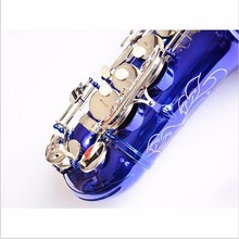 Saxophone instrument R54 Eb-flat alto saxophone blue silver key musical instrument Best Free UPS / DHL