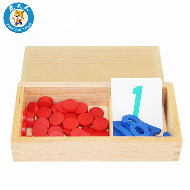 Montessori Math Preschool Teaching Material Learning Education Games Numbers And Chips 1-10