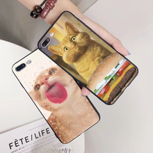 aiboduo Cat looks at you Cover phone Case For iPhone 5 5s SE 6 6plus 6S 7 7plus 8 8plus X XS max xr coque