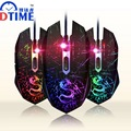 DTIME Juegos Gaming Mouse Óptico USB Con Cable de Juego Del Ratón Gamer Ratones Bloody X7 Deathadder Dota 2 LOL Ranton para Ordenador PC Portátil