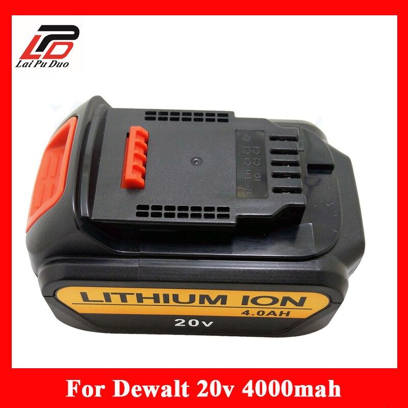 Replacement Battery For Dewalt DCB200 DCB181 DCB182 DCD780 DCD785 DCD795 DCB201 DCB203 20V 4000mAh Li-ion Power Tools Batteries 5pcs 5000mah power tool rechargeable li ion battery replacement for dewalt 18v dcb200 dcb201 dcb203 dcb204 dcb180 dcb181 dcb182