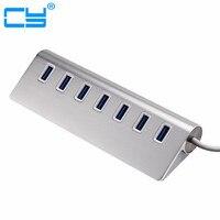 Super Speed 5Gbps USB HUB 3 0 Aluminum 7 Ports USB 3 0 HUB Splitter Adapter