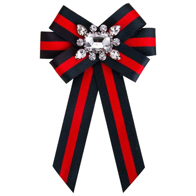 Новый бант Кристалл женские Броши Булавки холст ткань бант галстук корсаж брошь для женщин Одежда Аксессуары для платья