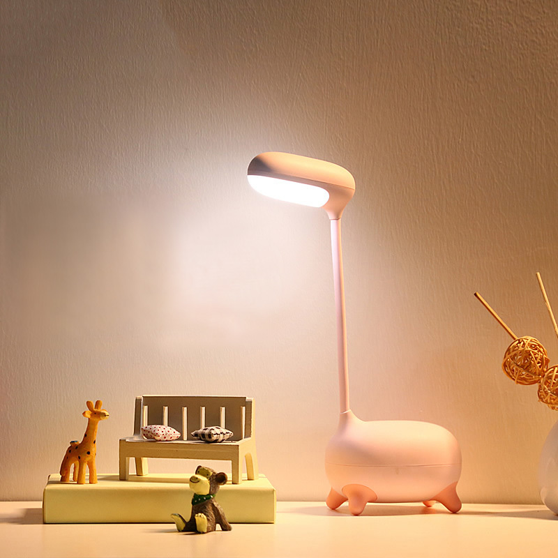 Animals Table Lamps LED Touch On/off Switch Desk Lamp Children Eye Protection Student Study Reading Rechargeable Bedside Lamps icoco new led touch on off switch desk lamp children eye protection student study reading dimmer rechargeable led table lamps