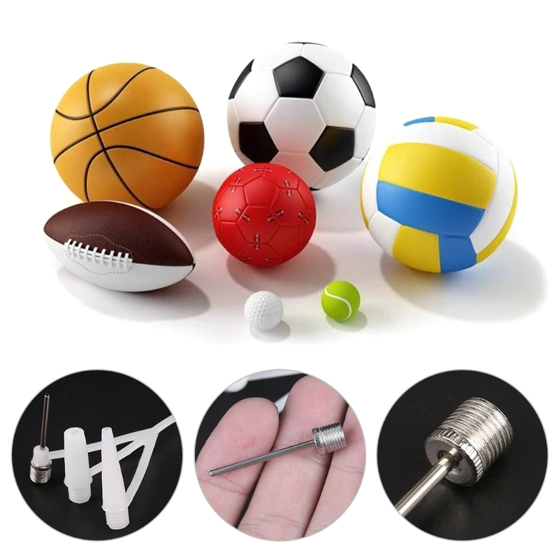 3 Pcs Ball Inflator Valve Adapter Hand Air Pump Needle Home Outdoor Accessories