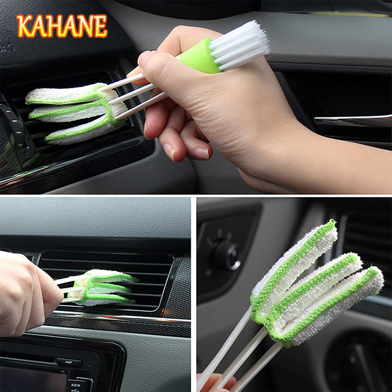 KAHANE Double-Head Car Cleaning Brush Tool Duster Auto Cleaning Accessories Product FOR BMW E46 E39 E60 E36 E90 F30 F10 X5 M M3