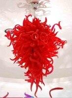 Venta caliente de Alta Hanging Red Chihuly Blown Glass Chandelier Light Fixture
