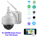 720P 1.0 Megapixels WiFi Wireless IP Speed Dome Camera IR-CUT PTZ 4X Zoom CCTV Security Surveillance Camera P2P Motion Detection