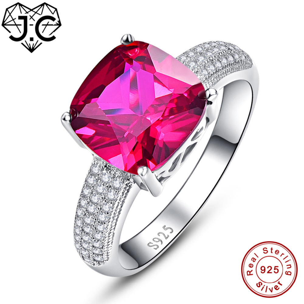 J.C Classic Simple Rainbow & Ruby Spinel White Topaz Solid 925 ...