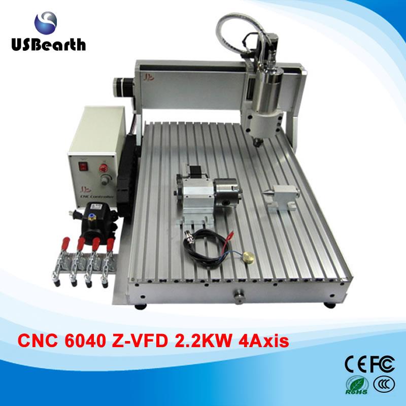 Newest CNC 6040 4 Axis 2200w mini cnc router machine  acctek 6040 4040 cnc router cnc 6040 4 axis mini cnc machine 4 axis router