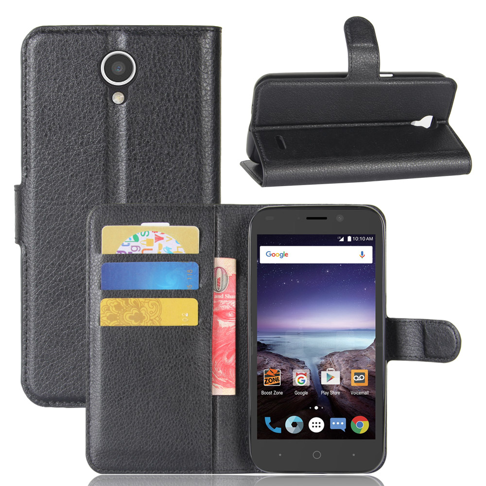 buy online 2ae02 1d80e N9136 Case for ZTE Prestige 2 N9136 Cases Wallet Card Stent Lichee Pattern  Flip Leather Covers Protect Cover Black 9136 ZTE9136-in Wallet Cases from  ...