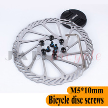 MUQZI 20Pcs Disc Brakes Disc Screws MTB Road Bike Foldable Bicycle Fixed Gear Disc Brake Oil Disc Screws M5 * 10MM Get Wrench