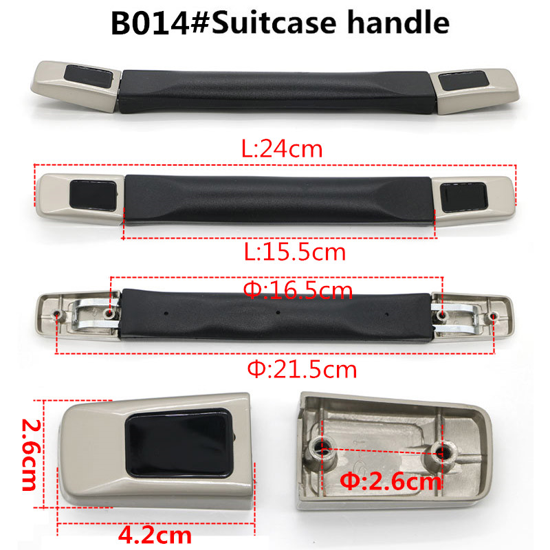 DIY Replacement Suitcase Telescopic Handles Luggage parts Handle Hardware Accessories Trolley Suitcase Handle Grip