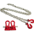 RC Rock Crawler 1:10 Accessories Tow Hook & Trailer Chain Kit for Axial SCX10 Tamiya CC01 RC4WD D90 D110 TF2 RC Trucks Car Parts