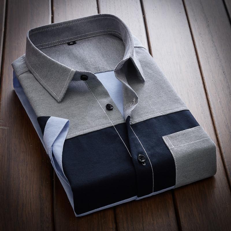 Men Summer Cotton Dress Shirts Short Sleeve Slim Shirts Good Quality Men Large Size Formalwear Casual Shirts Size 5XL