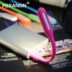 Foxanon мини-usb, лампа очень яркая, гибкая 5 Вт Светодиодный светильник бронирование свет с USB для внешний аккумулятор для компьютера Портативны...