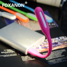Foxanon Mini USB Light Ultra Bright Flexible 5W LED Lamp Booking Light with USB for Power bank computer Portable(China)