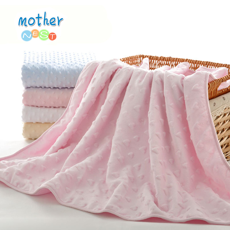 Mother Nest Super Soft 100% Cotton Baby Blanket Blue/Pink/Yellow Color Toddler Blanket  Bedding Set  Winter Envelope for Newborn