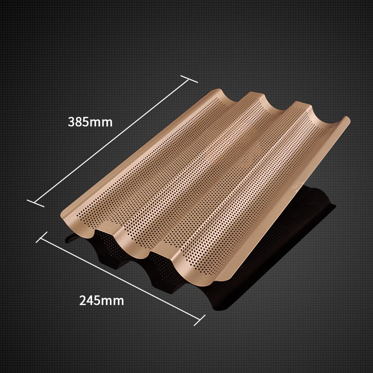 3 Groove Non-stick Baguette Baking Tray Loaf Mould French Bread Pan Bake Tools