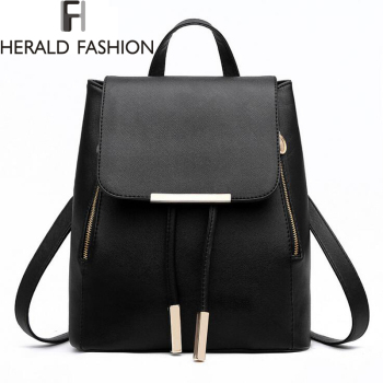 Women Backpack High Quality PU Leather Mochila Escolar School Bags For Teenagers Girls Top-handle Backpacks